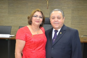 Presidente do TJAP na foto ao lado da nva presidente do TCE, deve presidir a solenidade desta quarta-feira ma UNIFAP