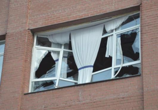 Estragos causados pela explosão do meteorito, que aconteceu nas primeiras horas de hoje na Russia
