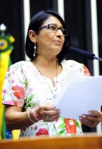 Dep.Janete, que defendu na Câmara a homenagem a Chico Mendes