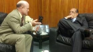 Bala Rocha (PDT/AP) no encontro com Gilmar Mendes