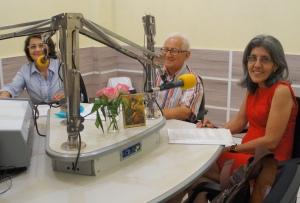 Graça Penafort, Antônio Munhoz e Ângela Carvalho na estreia do programa Aquarela Musical