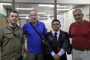 Desembargador Luis Carlos Gomes, presidente do TJAP, no encontro com jonalistas suiços