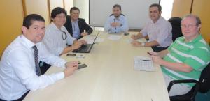 Bruno Mineiro e técnicos da Setrap com o coordenador do DNIT, em Brasília